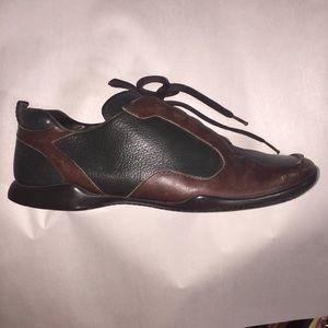 authentic PRADA size 8.5 men's lace up leather